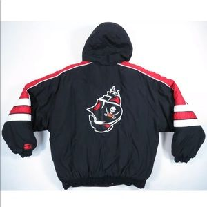 Tampa Bay Buccaneers Starter Hooded Puffer Jacket
